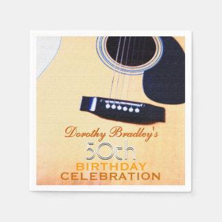Serviette de papier de guitare de cinquantième serviettes en papier