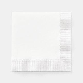 Serviette de papier faite sur commande - blanc serviette en papier