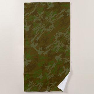 Serviette De Plage Brown et motif de camouflage de vert