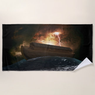 Serviette de plage d'arche de Noahs