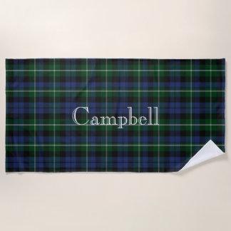 Serviette de plage de plaid de tartan de Campbell