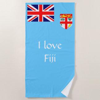 Serviette De Plage Drapeau de l'île fidji
