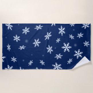 Serviette De Plage Flocons de neige