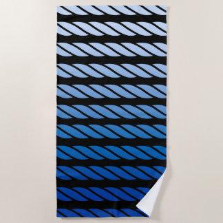 Serviette De Plage Le style bleu de corde barre le décor sur a