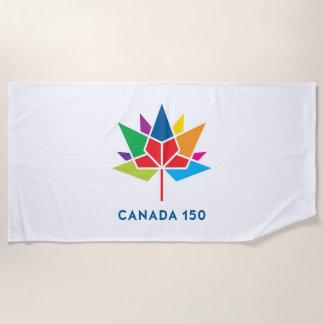 Serviette De Plage Logo de fonctionnaire du Canada 150 - multicolore