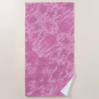 Serviette De Plage Motif rose de camouflage