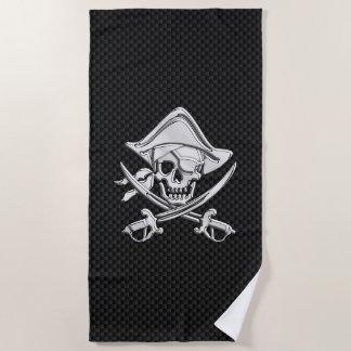 Serviette De Plage Pirate de chrome sur le décor d'impression de