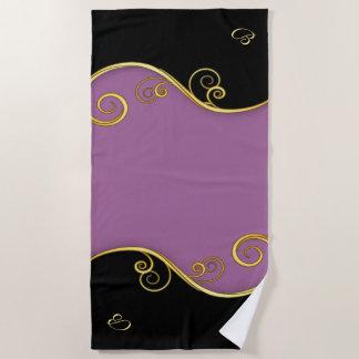 serviette de plage Pourpre-noire avec (ou sans)