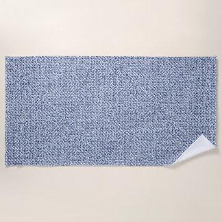 Serviette De Plage Regard bleu géométrique de textile de contrôle