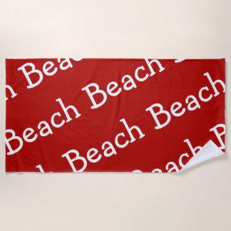 Serviette De Plage Rouge et blanc de motif de plage