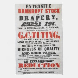 serviette de thé de Prospectus-style de 1840s