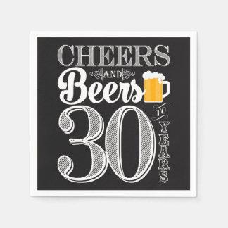 Serviette En Papier Acclamations et bières à 30 ans de serviettes de