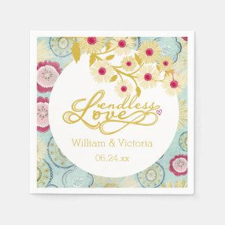 Serviette En Papier Amour sans fin fantaisie floral épousant les