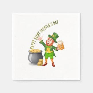 Serviette En Papier Bière et or pour le jour de Patrick de saint