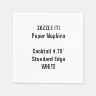 Serviette En Papier Blanc BLANC fait sur commande de serviettes de