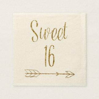 Serviette En Papier Bonbon 16 gâteau de flèche de scintillement d'or