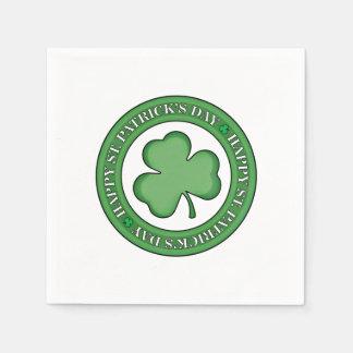 Serviette En Papier Bouclier heureux de Jour de la Saint Patrick