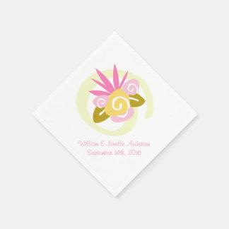 Serviette En Papier Bouquet nuptiale lunatique épousant les serviettes