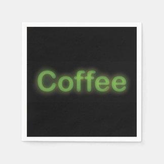 Serviette En Papier Café au néon