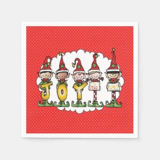 Serviette En Papier Célébration avec des serviettes de fête de Noël de
