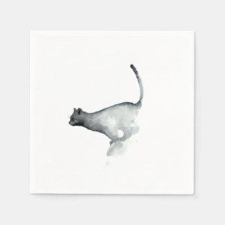 Serviette En Papier Chat grincheux gris de serviettes de livre blanc