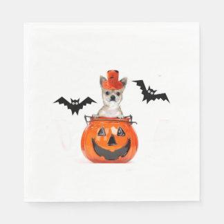 Serviette En Papier Chien de chiwawa de Halloween