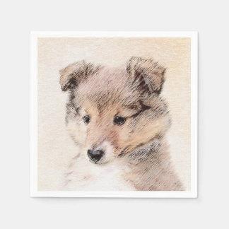 Serviette En Papier Chiot de chien de berger de Shetland