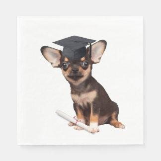 Serviette En Papier Chiwawa d'obtention du diplôme