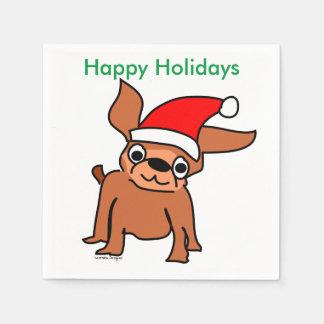 Serviette En Papier Chiwawa Père Noël de Noël