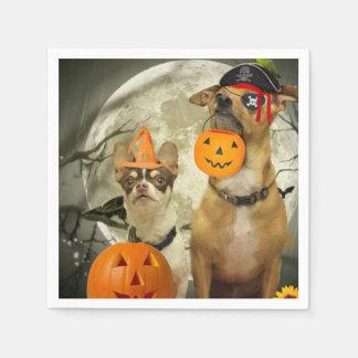Serviette En Papier Chiwawas de Halloween