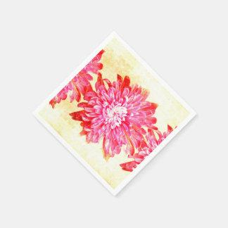 Serviette En Papier Chrysanthème vibrant