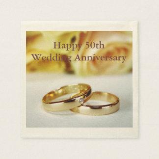 Serviette En Papier Cinquantième anniversaire de mariage heureux