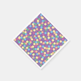 Serviette En Papier Cocktail multicolore coloré de pois
