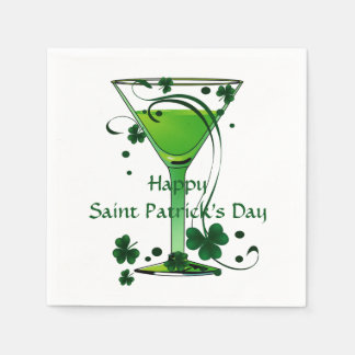 Serviette En Papier Cocktail vert de norme de Jour de la Saint Patrick