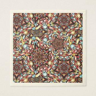 Serviette En Papier Conception abstraite colorée