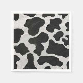 Serviette En Papier Copie noire et blanche de vache
