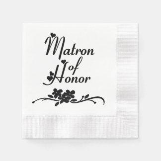 Serviette En Papier Dame de honneur classique