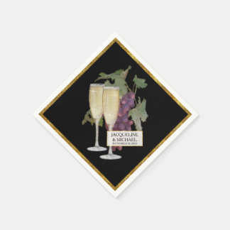 Serviette En Papier Décor nuptiale de réception en verre de Champagne