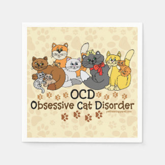 Serviette En Papier Désordre obsédant de chat d'OCD