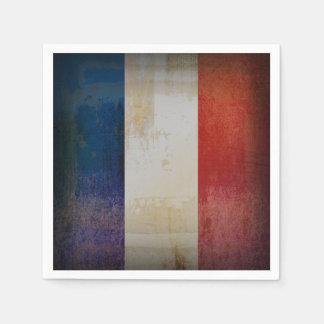 Serviette En Papier Drapeau affligé de la France