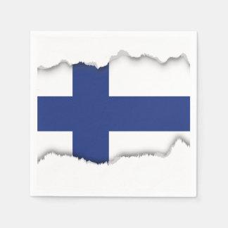 Serviette En Papier Drapeau de la Finlande