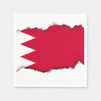 Serviette En Papier Drapeau du Bahrain