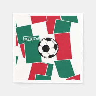 Serviette En Papier Drapeau du football du Mexique