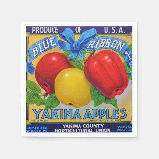 Serviette En Papier Étiquette de caisse de Washington Apple