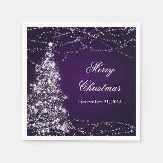 Serviette En Papier Étoiles brillantes élégantes d'arbre de Noël