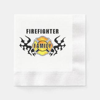 Serviette En Papier Famille de sapeur-pompier
