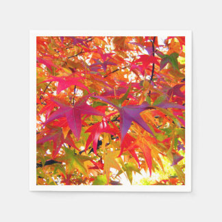 Serviette En Papier Feuille d'automne