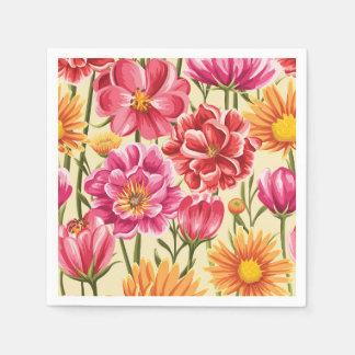 Serviette En Papier Floral