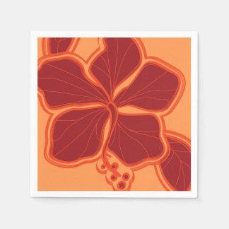 Serviette En Papier Floral hawaïen de ketmie épique