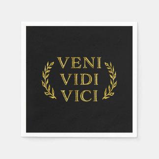 Serviette En Papier Gagnant drôle de jeu de Veni Vidi Vici